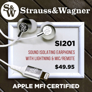 strauss and wagner SI201 earphones only $49.95