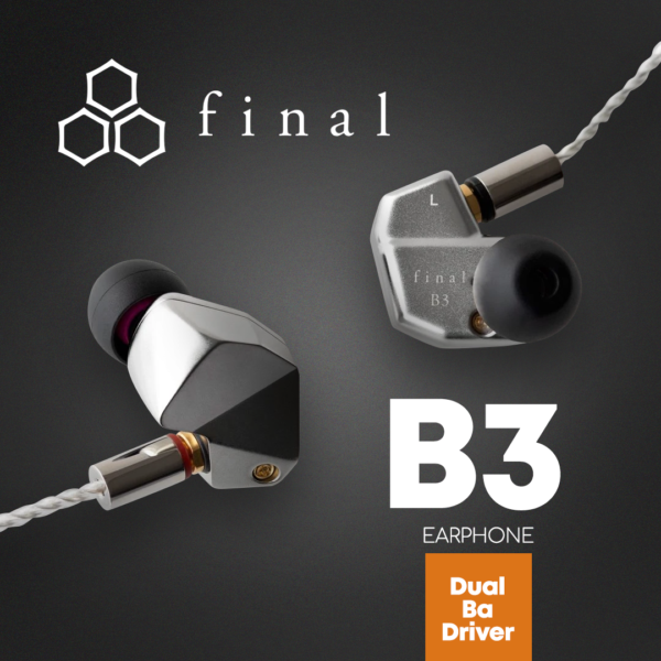 Final Audio B Series B3 Earphone (Dual BA Driver)